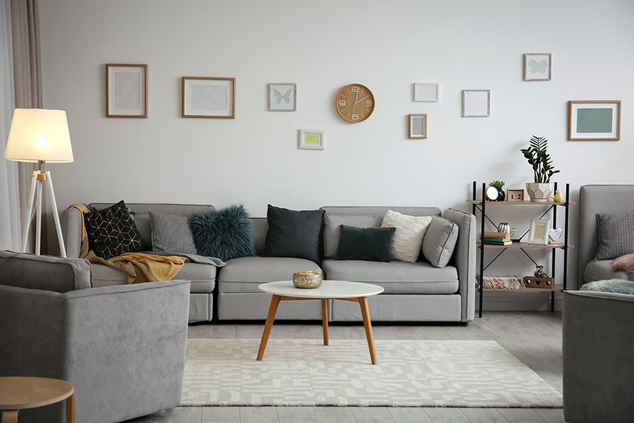 Renters Insurance - View Of Modern Living Room In Small Apartment